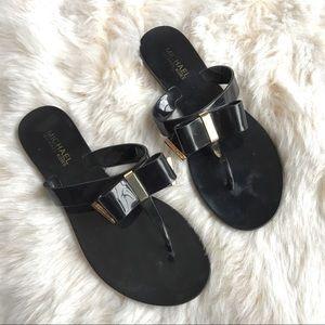 Michael Kors Kayden jelly bow sandal flip flop